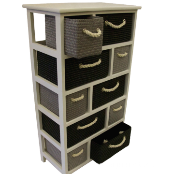 Black Grey White Large Storage Unit Canvas Drawers Basket Rope Bedroom Bathroom